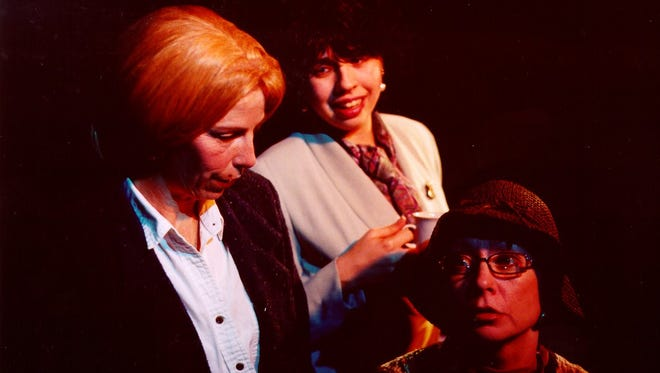 """Mary Benson, Lisa Goodness, and Mary Steele in a 2004 Lublolly production of """"Visitation."""""""