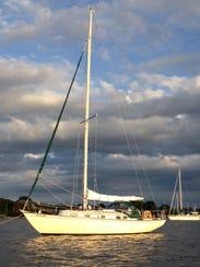 Jim Henderson's sailboat
