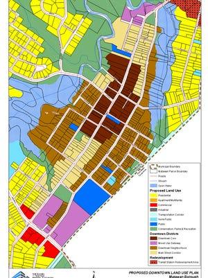 New zoning map in Matawan's 2015 master plan