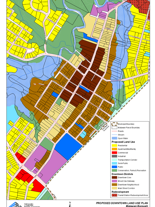 matawan proposed zoning map