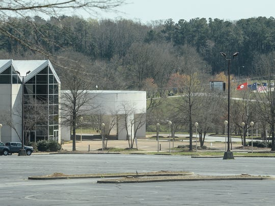 The front entrance of the Civic Center near Martin Luther King, Jr. Boulevard, at the Anderson Sports and Entertainment Complex in Anderson.