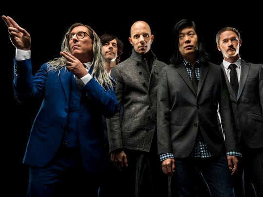 A Perfect Circle features (from left) Maynard James Keenan, Matt McJunkins, Billy Howerdel, James Iha and Jeff Friedl. The bands performs in the top slot Sunday night on the Outdoor Stage.