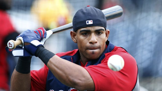 Boston Red Sox left fielder Yoenis Cespedes is a rumored target of the Reds.
