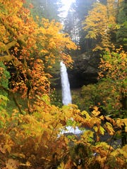Fall colors enhance the view of North Falls.