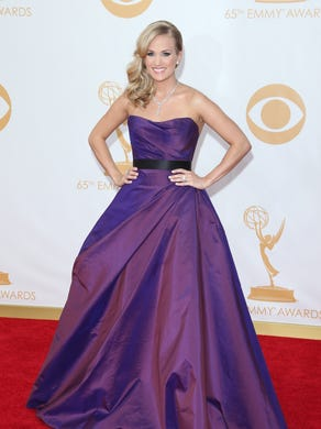Pretty in purple at the 2013 Emmys.