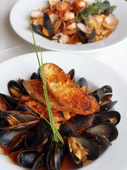 Mussels ala Fennel and Seafood Pescatore at La Dolce Vita in Belmar.