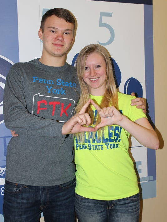 Kaylee Hess and Mark Czaus will be representing Penn State York at the THON, Feb. 21-23, at the Bryce Jordan Center in State College (Submitted)