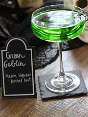 Green Goblin cocktail from The How-To-Hostess, Brittany Gilbert.