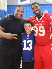 NFL players comes to Sayreville Middle School. Keith