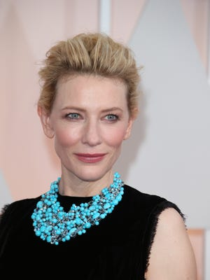 2/22/15 4:20:15 PM -- Los Angeles, CA, U.S.A  -- Cate Blanchett arrives at the 87th annual Academy Awards at the Dolby Theatre. --    Photo by Dan MacMedan, USA TODAY contract photographer
