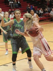 Rossview's Mickey Head drives past a Station Camp defender