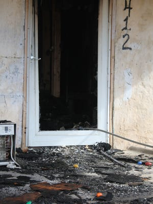 A fire on Tuesday morning in Carlsbad destroyed the contents of a home and a vehicle.