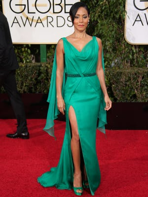 Jada Pinkett Smith arrives at the 73rd Annual Golden Globe Awards Sunday. On Saturday, the actress weighed in on the lack of diversity in this year's Oscar nominations.