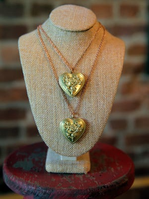 Heart Locket, $35, at Foolish Ginger in Asbury Park, NJ Sunday, January 31, 2016.