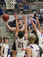 Stewart County's Rye Nolen goes in for a lay up during