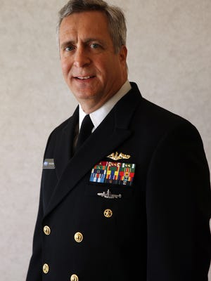 Rear Adm. Tom Kearney, Deputy Commander Naval Sea Systems Command, Acquisition/Commonality/Expeditionary Warfare is a native of Parsippany and is part of the opening events for AADPTs 'A Walk of Heroes'. April 13, 2016. Parsippany, N.J.