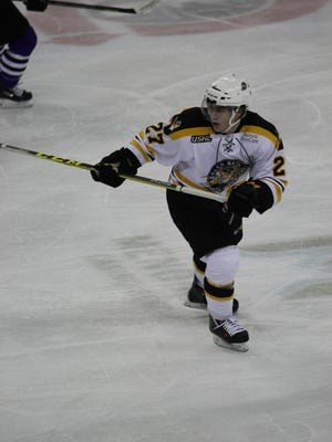 Brett Gruber was the Green Bay Gamblers' fifth-leading scorer during the regular season, recording 39 points with six goals and 33 assists.