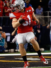 Ohio State tight end Nick Varrett is projected as a