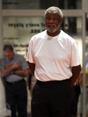 2014: Naismith Memorial Basketball Hall of Fame 2014 Inductee Nolan Richardson is all smiles as he waits to walk the red carpet as he was introduced at the official jacket ceremony held at the Basketball Hall of Fame.