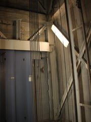 Elevator hoistways at Carlsbad Caverns.