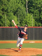 Rossview's Matthew Reasor delivers a pitch to home