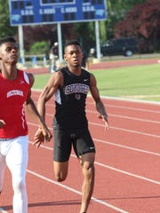 West Creek's Josh Green competes in the boys' 400-meter