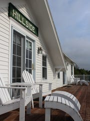 The Hillside Inn porch, whose width is about 110 feet,