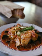 The Fish Stew / Bouillabaisse featuring PEI mussels,