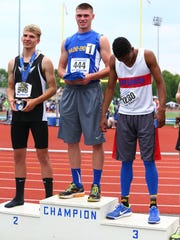Second-time state pentathlon champion Michael Palmer, of Maine-Endwell.