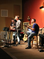 Dave Pettigrew performing with his band during the concert at Calvary Chapel of Hammonton.