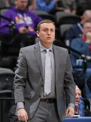 Generals assistant Casey Apetrei is shown during an LSUA NAIA Tournament game in 2016. Apetrei is one of three assistants that coach Larry Cordaro has on his staff.