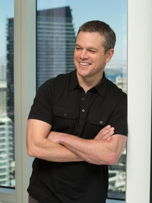 Matt Damon poses for a portrait at the Aria Sky Suites while promoting his new movie 'Jason Bourne.'
