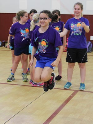 Girls participate in the jump roping camps presented by local Girl Scouts. Over the years, hundreds of girls have learned new jump roping techniques.