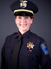 This undated file photo provided by the Tulsa Oklahoma Police Department shows officer Betty Shelby. Police say Tulsa officer Shelby fired the fatal shot that killed 40 year-old Terence Crutcher. Prosecutors in Tulsa, Oklahoma, charged Shelby,  a white police officer who fatally shot an unarmed black man on a city street with first-degree manslaughter Thursday.