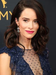 """Gulf Breeze native Abigail Spencer walks the red carpet at the 68th Emmy Awards, where she was a presenter. Spencer stars in NBC's """"Timeless"""" and Sundance's """"Rectify."""""""