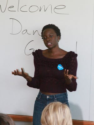 """Former Grinnell resident and current television personality Danai Jekesai Gurira came to Grinnell College on Tuesday, Oct. 11, to urge students to vote in the upcoming election. Gurira is best known for her role on """"The Walking Dead,"""" an AMC television horror drama series."""