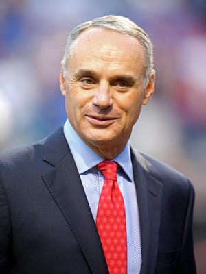 Commissioner Rob Manfred says baseball wants to study high-profile positions within the sport.