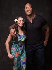 Auli'i Cravalho and Dwayne Johnson, the voice stars