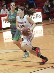 Rossview's Macy Rippy drives to the basket against