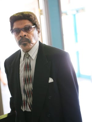 Landlord Will Sherard enters Milwaukee municipal court June 3, 2016. He was ordered Thursday to pay $64,550 in back building code fines — the second time in seven months that a judge ordered the notorious inner-city landlord to pay those fines.