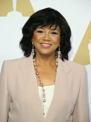 Academy of Motion Picture Arts and Sciences president Cheryl Boone Isaacs arrives at the 2017 Oscar nominees' luncheon at the Beverly Hilton.
