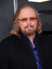 Barry Gibb, seen here at the Grammy Awards Sunday,
