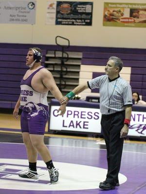 Cypress Lake High wrestler Cole Lewis has gone 31-3 this season.