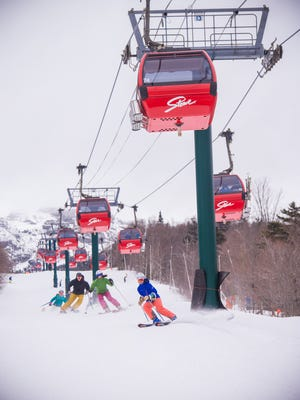 Located in northern Vermont, Stowe Mountain has 116 trails on a 2360-vertical-foot drop served by 12 lifts.