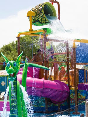 Barefootin' Bay includes smaller versions of the  big-kid attractions at Wet 'n' Wild Phoenix.