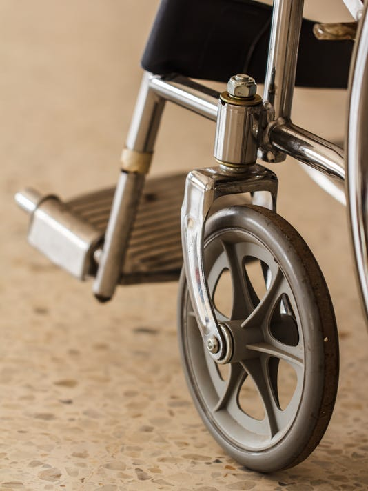 Wheel chair wheel