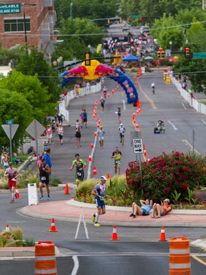 Dozens of roads across metro St. George will be closed May 5 for the 2018 Ironman 70.3 St. George triathlon.