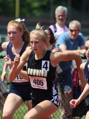 Jessica Lawson in the state championships' 1,500.