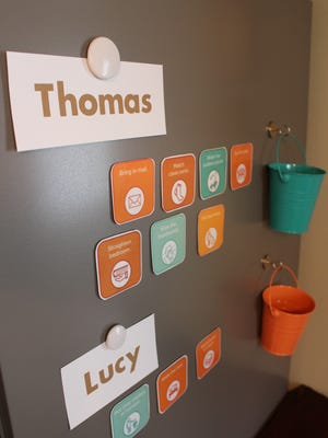 Keeping a chart with chore cards can help provide just enough structure amid summer fun.