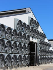 This barn utilizes tunnel ventilation in the summer months which helps to deter flies and heat abatement. The fans typically run 3-4 months out of the year.